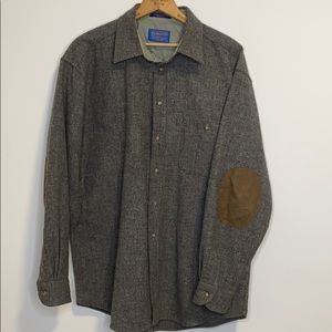 Pendleton elbow patch wool button down